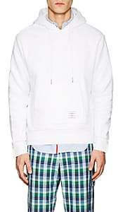 Thom Browne Men's Striped Cotton Terry Hoodie - White
