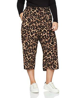 New Look Curves Women's Snake Crop 6010312 Trousers,(Manufacturer Size:20)