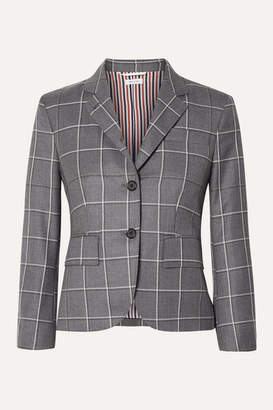 Thom Browne Checked Wool Blazer - Gray