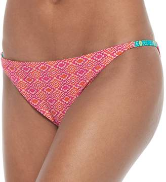 Juniors' Social Angel Tribal Strappy Bikini Bottoms