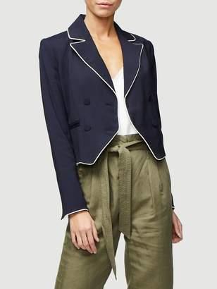 Frame Piped Cropped Blazer