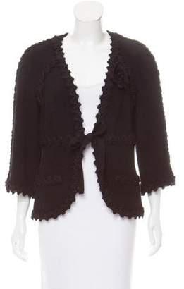 Chanel Three-Quarter Sleeve Wool Jacket