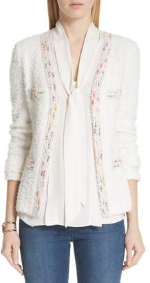 St. John Flagged Textural Knit Jacket