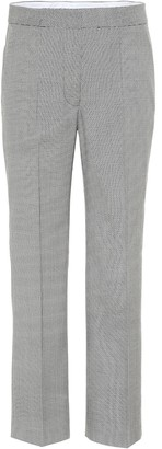 Stella McCartney Cropped wool straight-leg pants