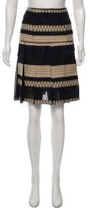 Hanley Mellon Embroidered Pleated Skirt