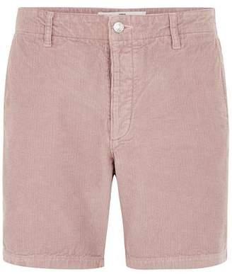 Topman Mens Pink Corduroy Shorts