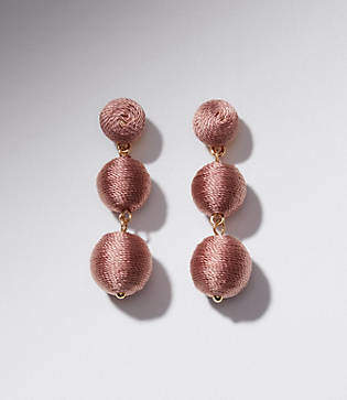 LOFT Fabric Ball Drop Earrings