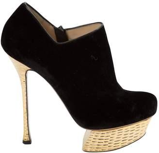 Nicholas Kirkwood Velvet ankle boots