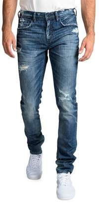 PRPS Men's Windsor Fit Stretch Denim Jeans with Rip/Repair