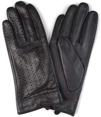 Brinley Co. Womens Genuine Leather Fashion Gloves