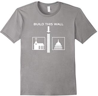 Church's Build This Wall Ironic Separate and State Funny Shirt