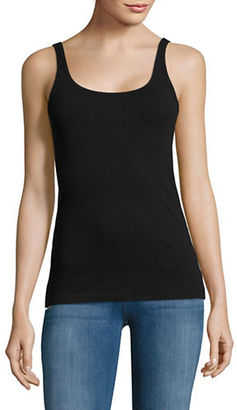 Lord & Taylor Ribbed Cotton Tank Top $20 thestylecure.com