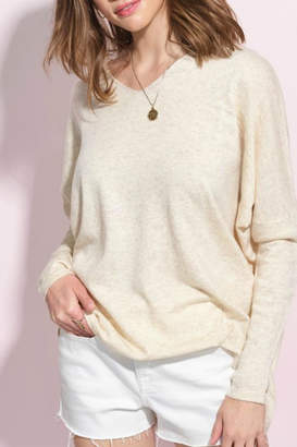 La Miel Olive Slouchy Sweater