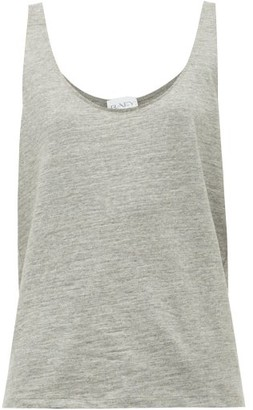 Raey Skinny Strap Cotton Jersey Vest - Womens - Grey