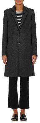 Barneys New York Women's Wool-Blend Felt Car Coat-DARK GREY $1,295 thestylecure.com