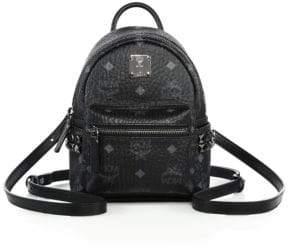 MCM Bebe Boo X Mini Studded Coated Canvas Backpack