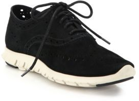 Cole Haan ZeroGrand Suede Oxford Sneakers $200 thestylecure.com