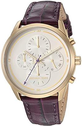 Michael Kors Women's 'Slater' Quartz Stainless Steel and Leather Casual Watch