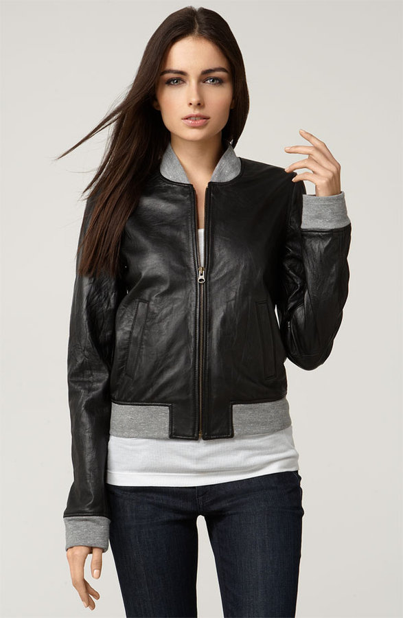 Mike & Chris 'Mansfield' Leather Bomber Jacket