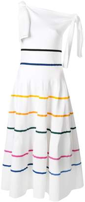Carolina Herrera striped flared dress