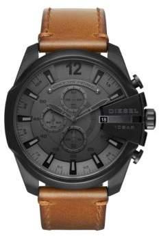 Diesel Advanced Mega Chief Leather-Strap Watch