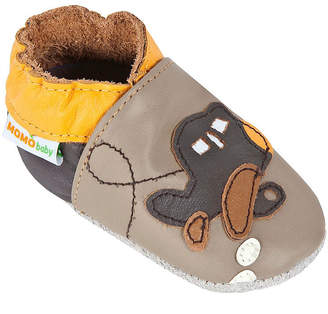 Momo Baby Boys Soft Sole Leather Baby Shoes - Airplane