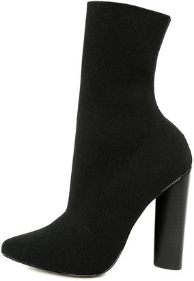 Steve Madden Capitol Black Knit Mid-Calf High Heel Boots $129 thestylecure.com