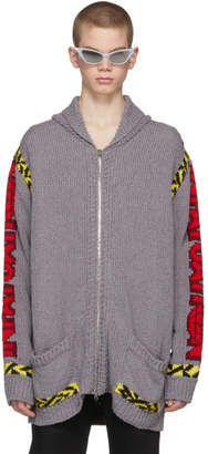 Stella McCartney Grey Sunset Zip Cardigan
