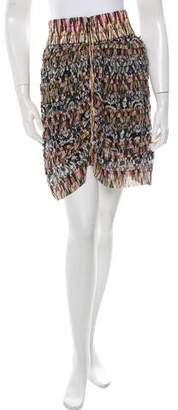 Isabel Marant Silk Patchwork Printed Skirt