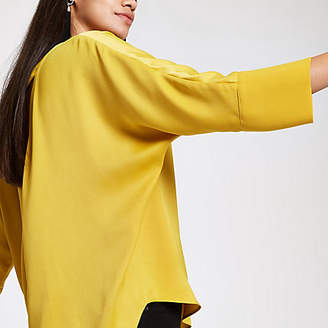 River Island Yellow loose fit batwing sleeve top
