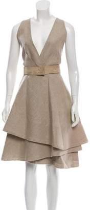 Kaufman Franco KAUFMANFRANCO Belted Linen Dress
