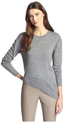 James & Erin Women's Contrast Stitch Crewneck Sweater