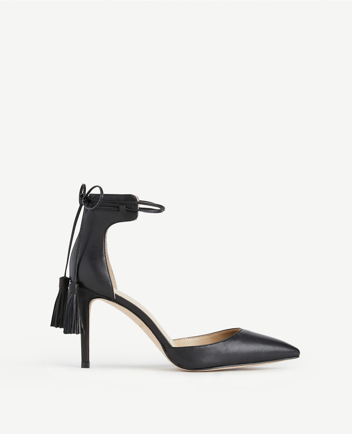Ann Taylor Elliot Leather Tassel Pumps
