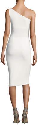 Chiara Boni Custom Collection: Angelina One-Shoulder Draped Cocktail Dress