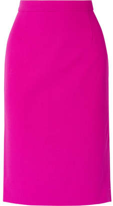 Narciso Rodriguez Wool-blend Piqué Pencil Skirt - Fuchsia