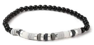 Topman Mens Black Beaded Bracelet*
