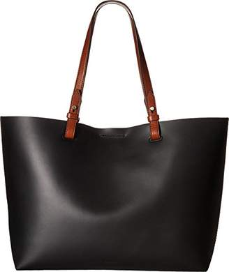 Fossil Rachel Tote Red and Cabernet Combo