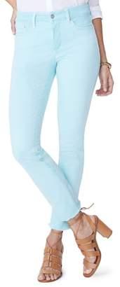 NYDJ Sheri Frayed Hem Stretch Slim Ankle Jeans