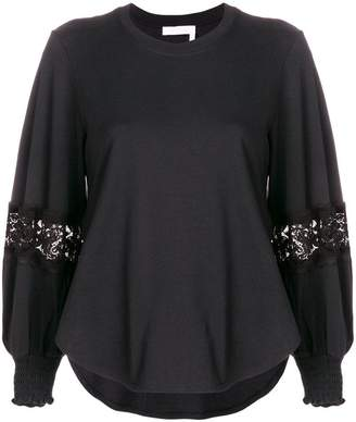 See by Chloe lace detail blouse