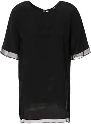 Prabal Gurung sheer trim blouse