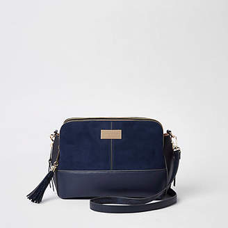 River Island Womens Navy triple compartment cross body bag