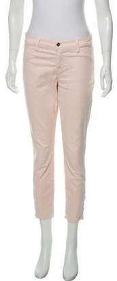 J Brand Mid-Rise Cropped Pants