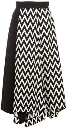 Loewe Asymmetric Herringbone skirt