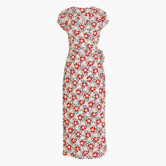 J.Crew Mercantile easy wrap dress in seventies floral