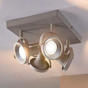 Eckige LED-Deckenlampe Pieter, 4-flammig