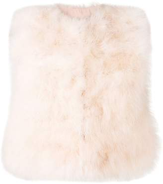 RED Valentino cropped feather vest