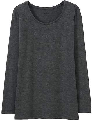 Uniqlo Women's Heattech Crewneck Long-sleeve T-Shirt