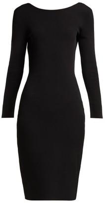 The Row Darta Scoop Back Midi Dress - Womens - Black