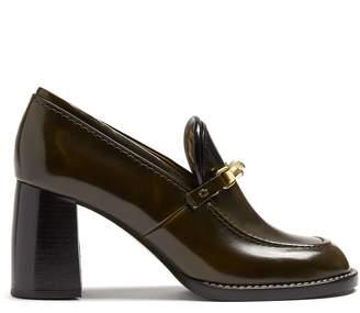 Joseph Block-heel leather loafers