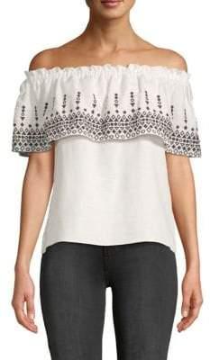 99ce0897d412a0 Parker White Off Shoulder Women s Tops - ShopStyle